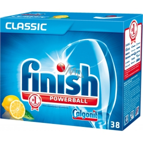 Calgonit Finish Classic Pre-soaking Aciton Lemon dishwasher tablets 38 pieces