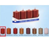 Lima Candle plain metal red cylinder 40 x 70 mm 4 pieces