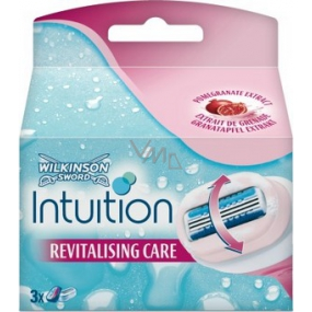Wilkinson Lady Intuition Replacement Head with Pomegranate Extract 3 pieces