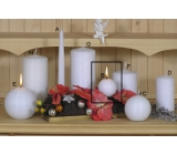 Lima Alfa Frosty effect candle white ball 60 mm 1 piece