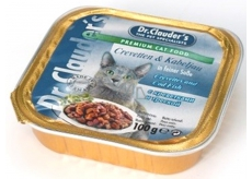 Dr. Clauders Shrimp and cod with pieces of meat complete cat food 100 g