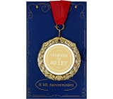 Albi Paper greeting card envelope Envelope with medal - 40 years W