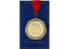 Albi Envelope Card Greeting Card Medal - 40 years W