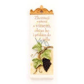 Albi Romantic garden Rectangular plaque 12 I adore cooking with wine 4 x 12 x 2 cm