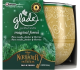 Glade by Brise Jehličí, amber + Forest fruits scented candle in glass 120 g