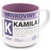Nekupto Hrnkoviny Mug with the name Kamila 0.4 liter