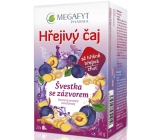 Megafyt Herbal Pharmacy Plum with ginger fruit tea helps digestion, body defenses and relaxation 20 x 2.5 g