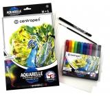 Centropen Aquarelle watercolor paints set of 12 pieces + accessories