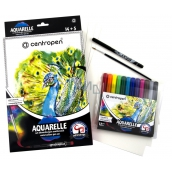 Centropen Aquarelle watercolor paints set of 12 pieces + accessories