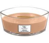 WoodWick Golden Milk - Gold milk scented candle with wooden wide wick and lid 453 g