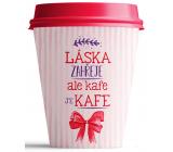 Nekupto Do not plastic mug To Go ceramic Love warms 250 ml