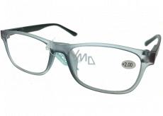 Berkeley Reading glasses +2.0 plastic gray, black sides 1 piece MC2184