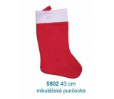 Santa Claus / Santa Christmas stocking 43 cm, red and white