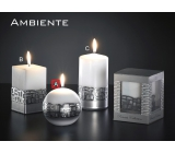 Lima Ambiente candle white ball 100 mm 1 piece
