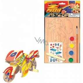 Puzzle wooden means of transport Motorbike 20 x 15 cm