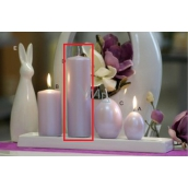 Lima Pastel candle metal light purple cylinder 50 x 170 mm 1 piece