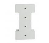 Nekupto Wooden LED letter I decoration 16 cm