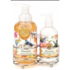 Michel Design Works Paradise foaming liquid hand soap 530 ml + hand and body lotion, 236 ml hand care cosmetic set