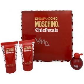 Moschino Cheap And Chic Chic Petals Eau de Toilette 4.9 ml + Body Lotion 25 ml + Shower Gel 25 ml