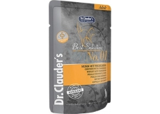 Dr. Clauders Best Selection 1 Chicken with cranberries complete food with pieces of meat for cats pocket 85 g