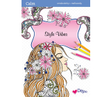 Ditipo Calm Style Vibes relaxation coloring book A4 32 pages