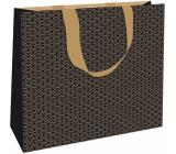 Nekupto Gift paper bag with embossing 30 x 23 x 12 cm Gold 1869 LFL