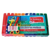 Clanax Plastic clothes pegs 24 pcs