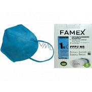 Famex Respirator oral protective 5-layer FFP2 face mask blue 10 pieces