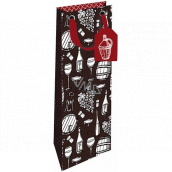 Nekupto Gift paper bottle bag 12.5 x 32.5 x 8 cm Still life of a winemaker 1865 LILH