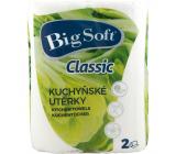 Big Soft Classic 2-ply kitchen paper towels, 2 × 51 pieces, 2 rolls