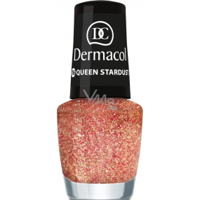 Dermacol Nail Polish with Effect Glitter Touch lak na nehty s efektem 16 Queen Stardust 5 ml