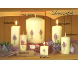 Lima Flower Lavender scented ivory candle with lavender decal cylinder 110 x 150 mm 1 piece