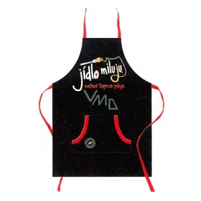 Nekupto Gifts with humor Apron with print I love food, I'm just cooking cooking 21 x 30 cm