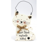 Nekupto Pets Wooden sign Attention! Insanely cute cat 12 x 8.5 cm