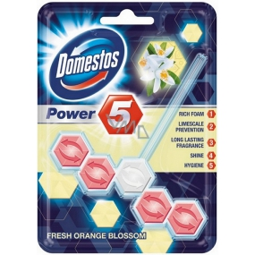 Domestos Power 5 Orange Blossom WC tuhý blok 55 g