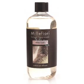 Millefiori Milano Natural White Musk - White musk Diffuser refill for incense stalks 500 ml