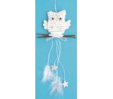 Owl White Suspension, 22 cm (Stars)
