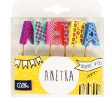 Albi Cake candles name - Anetka, 2.5 cm
