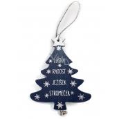 Nekupto Christmas wooden decoration tree Love, joy, Jesus, tree 11,8 x 9,5 cm