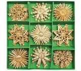Straw decorations in carbines about 6 cm, 26 pieces