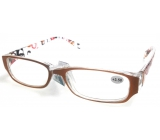Glasses dioplast. + 3.5 orange brown sides with rectangles MC2084