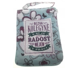 Albi Foldable bag with zipper for the handbag with colegyne lettering size: 42 cm × 41 cm × 11 cm