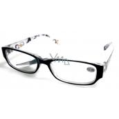 Berkeley Reading glasses +4 plastic black side with MC2084 rectangles