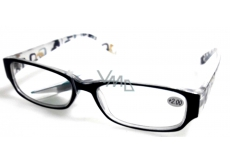 Berkeley Reading glasses +4 plastic black side with MC2084 rectangles