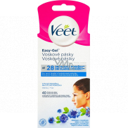 Veet Easy-Gel Face Depilating Wax Tape For Sensitive Skin 40 Pieces