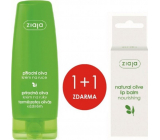 Ziaja Oliva hand and nail cream for dry skin 80 ml + Oliva lip balm 10 ml, duopack