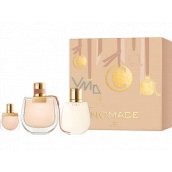 Chloé Nomade perfumed water for women 75 ml + body lotion 100 ml + perfumed water 5 ml, gift set
