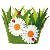 Dekorační květináč z filcu 18 x 15 cm 1 kus