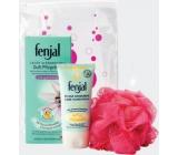 Fenjal Relaxing Foam Bath 125ml + Intensive Care 75ml Hand Cream + Massage Washcloth 1 Piece, Beauty Kit
