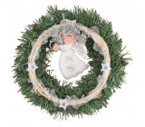 Wreath with angel for hanging 25 cm